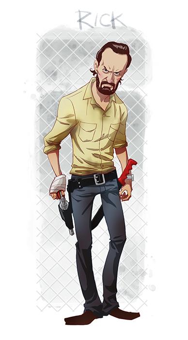walking-dead-cartoon-style-fan-art-by-edward-pun