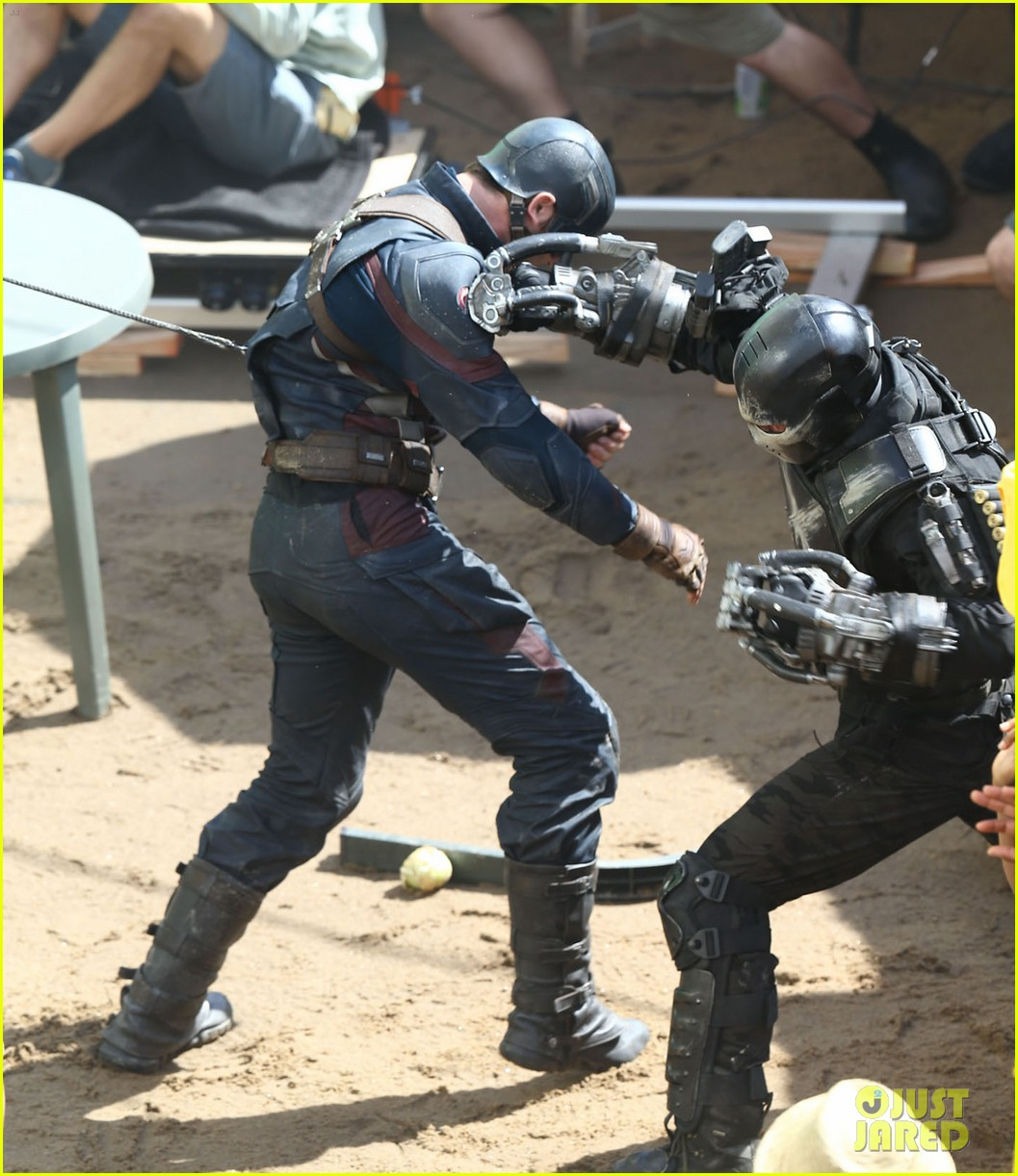 Semi-Exclusive... Stars On The Set Of 'Captain America: Civil War'