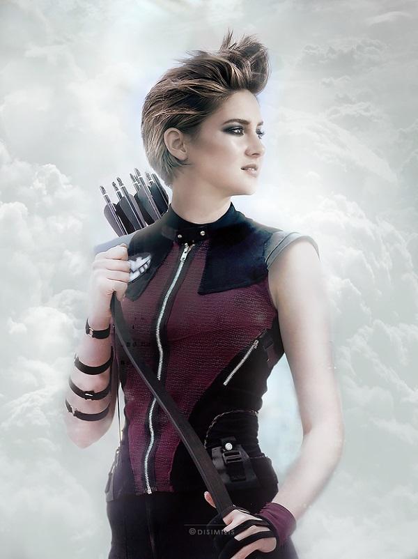 Shailene Woodley as Hawkeye.