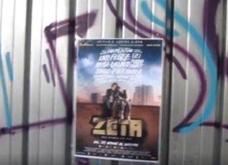 I DSA Commando bruciano il poster di Zeta il Film
