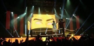 Emis Killa, Nitro, Laioung in freestyle durante il video di Vegas Jones