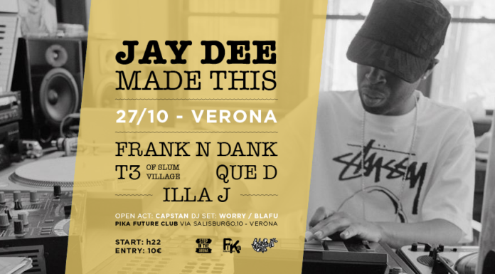 Jay Dee Made This Tour - VERONA_header