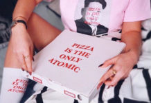 "Disagio Clothing presenta ""Atomic"": fate la pizza, non fate la guerra."