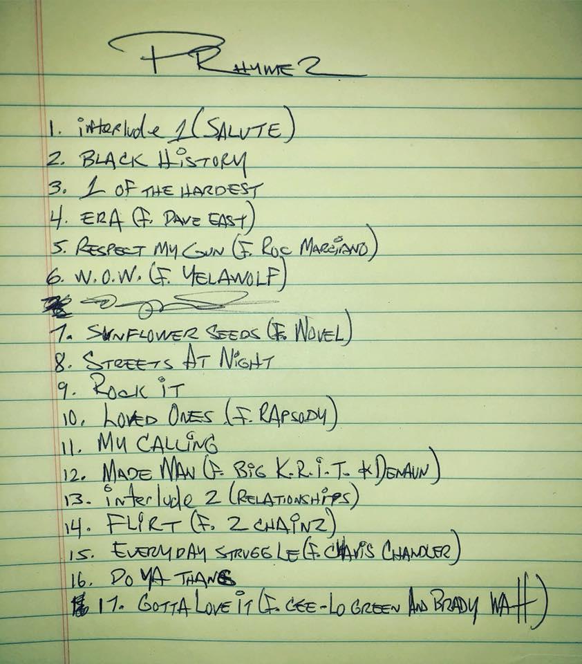 prhyme 2 tracklist