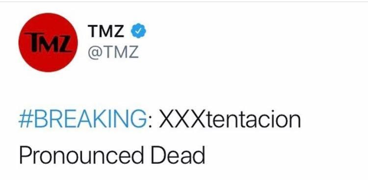 Tmz Breaking News. La morte di XXXTentacion