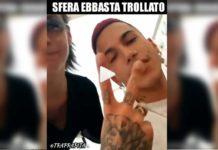 "Una ""fan"" percula Sfera Ebbasta in un video"