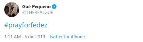 Guè Pequeno, il tweet su Fedez
