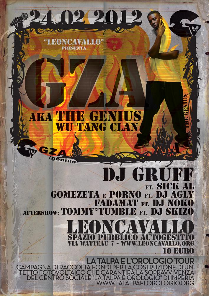 GZA (WuTangClan) & Dj Gruff + Special Guest - 24 Febbraio al Leoncavallo, Milano